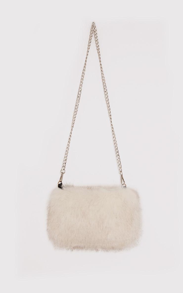 Christah White Faux Fur Chain Shoulder Bag 2