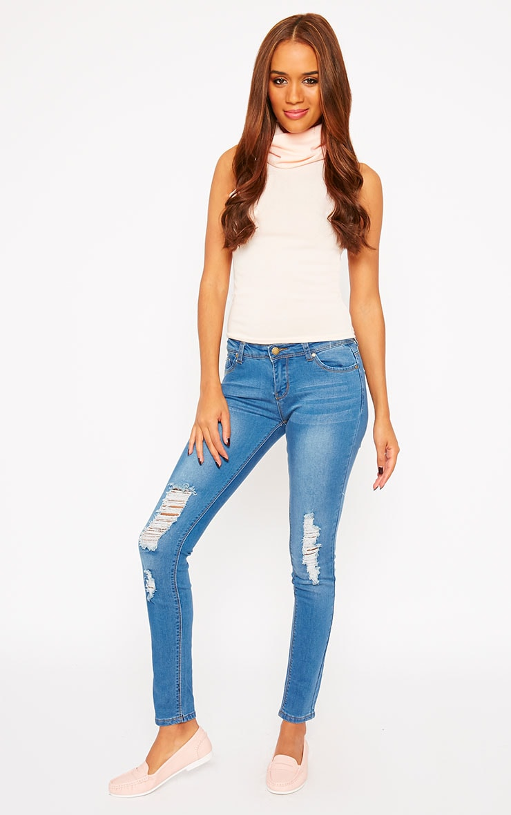 Mirka Blue Ripped Front Jeans 1