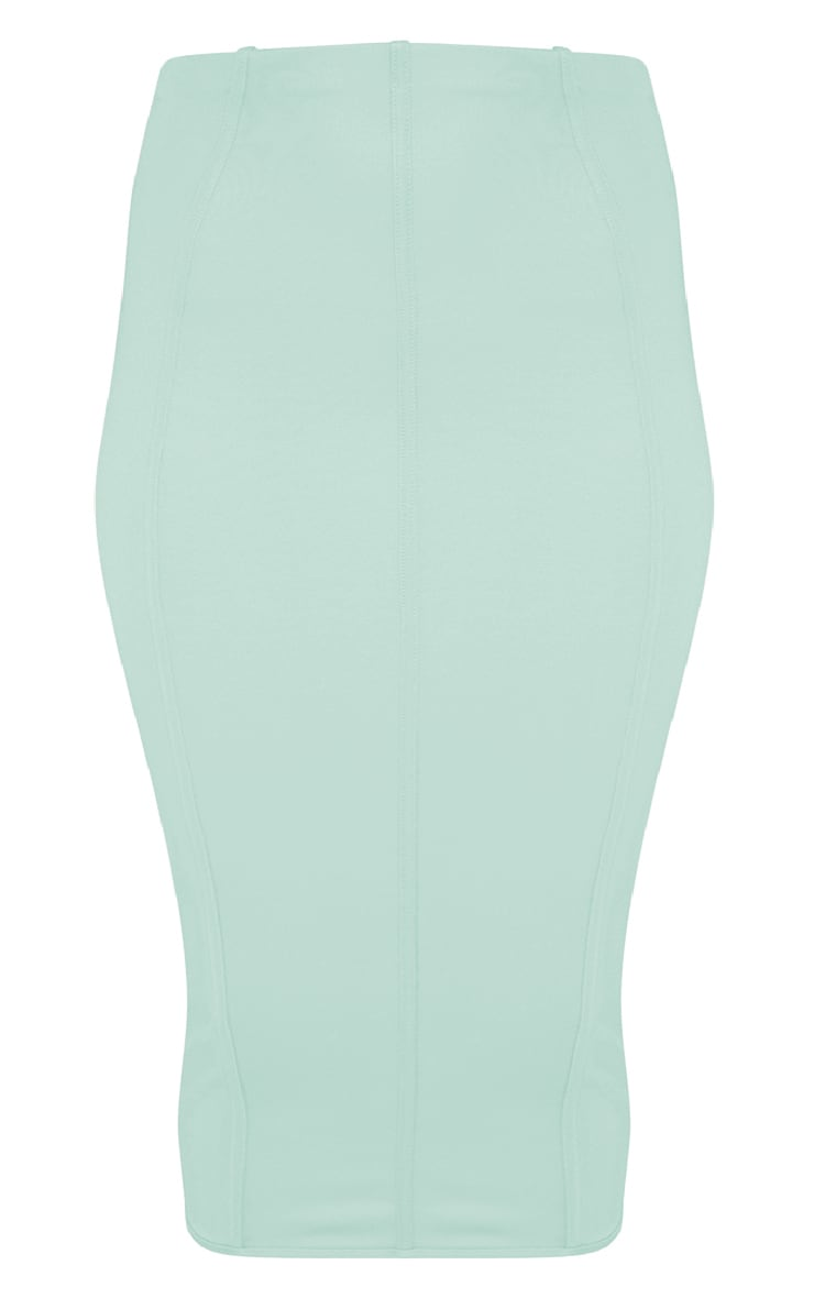 Plus Aqua Second Skin Binding Detail Midi Skirt 3