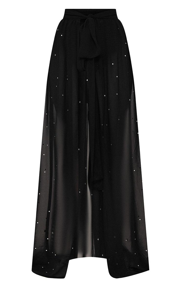 Premium - Jupe longue noire à strass 4