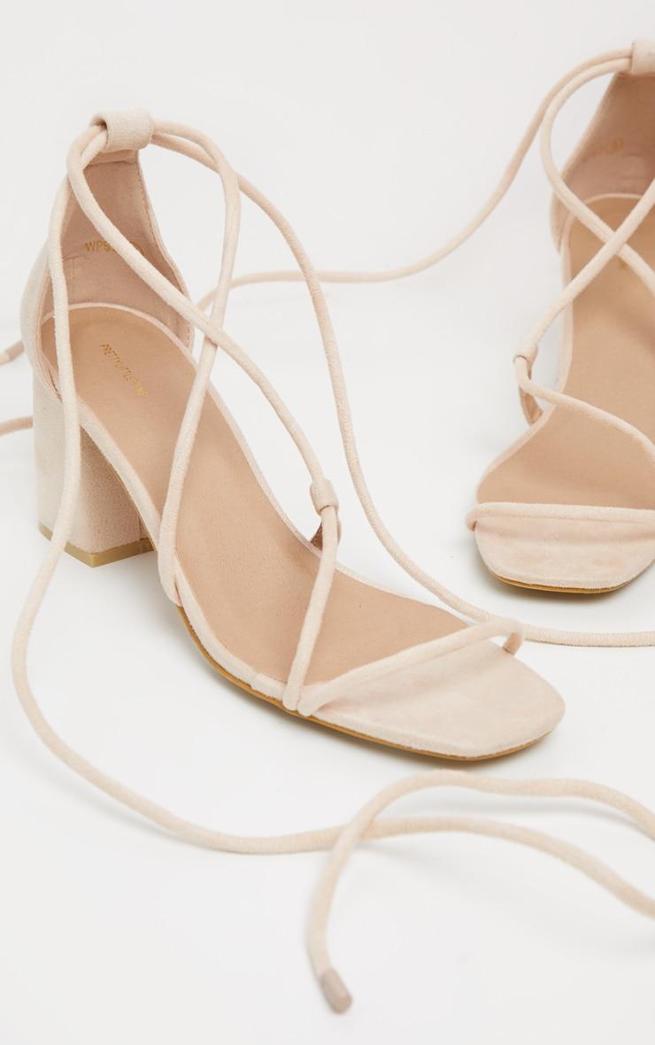 Nude Block Heel Sandal 3