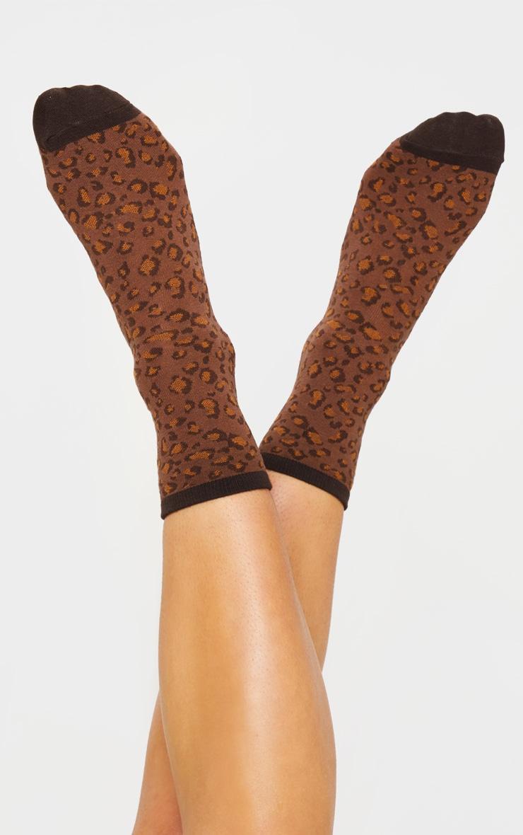 Brown Leopard Socks 3