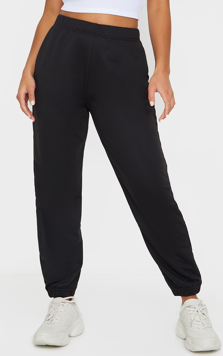 Petite Black &Grey Basic Cuffed Hem Track Pants 2 Pack 2