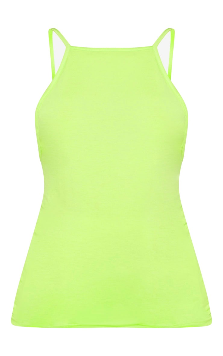 Neon Lime Jersey Low Back Vest 3