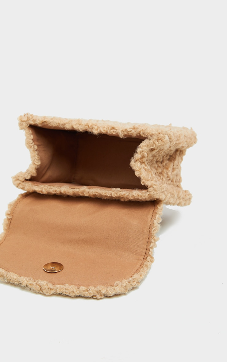 Biscuit Faux Shearling Mini Grab Bag  3