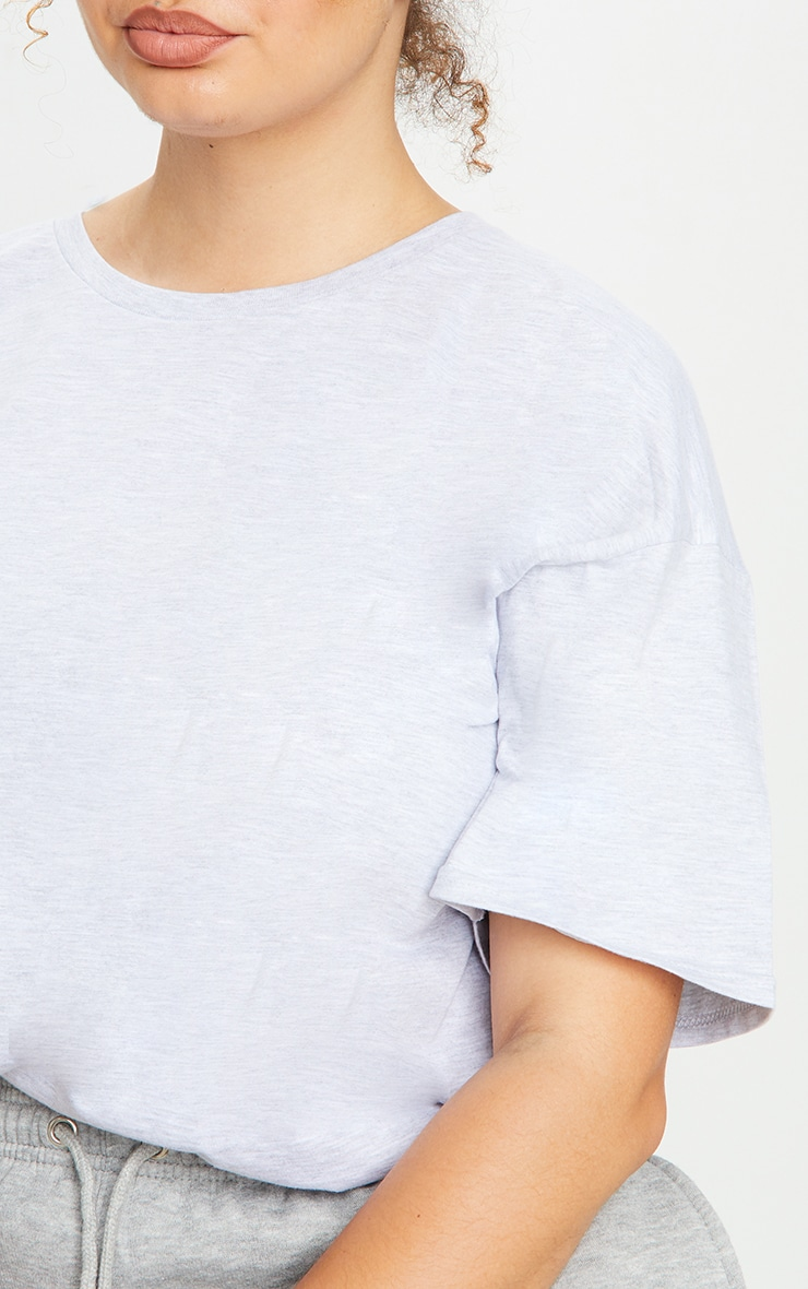Plus Grey & White 2 Pack Ultimate Oversized T Shirt 4