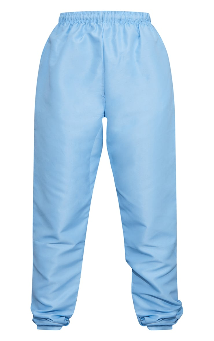 Blue Peached Zip Detail Joggers 5
