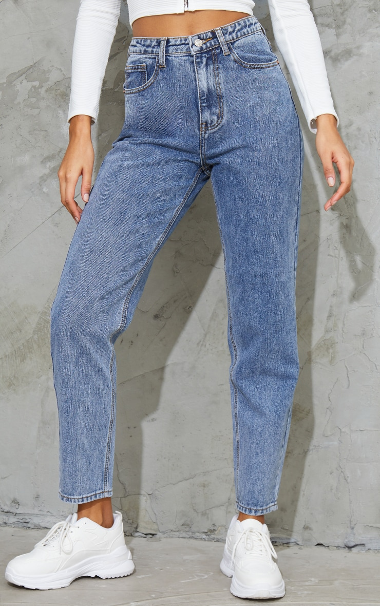 PRETTYLITTLETHING Vintage Wash Mom Jean 2