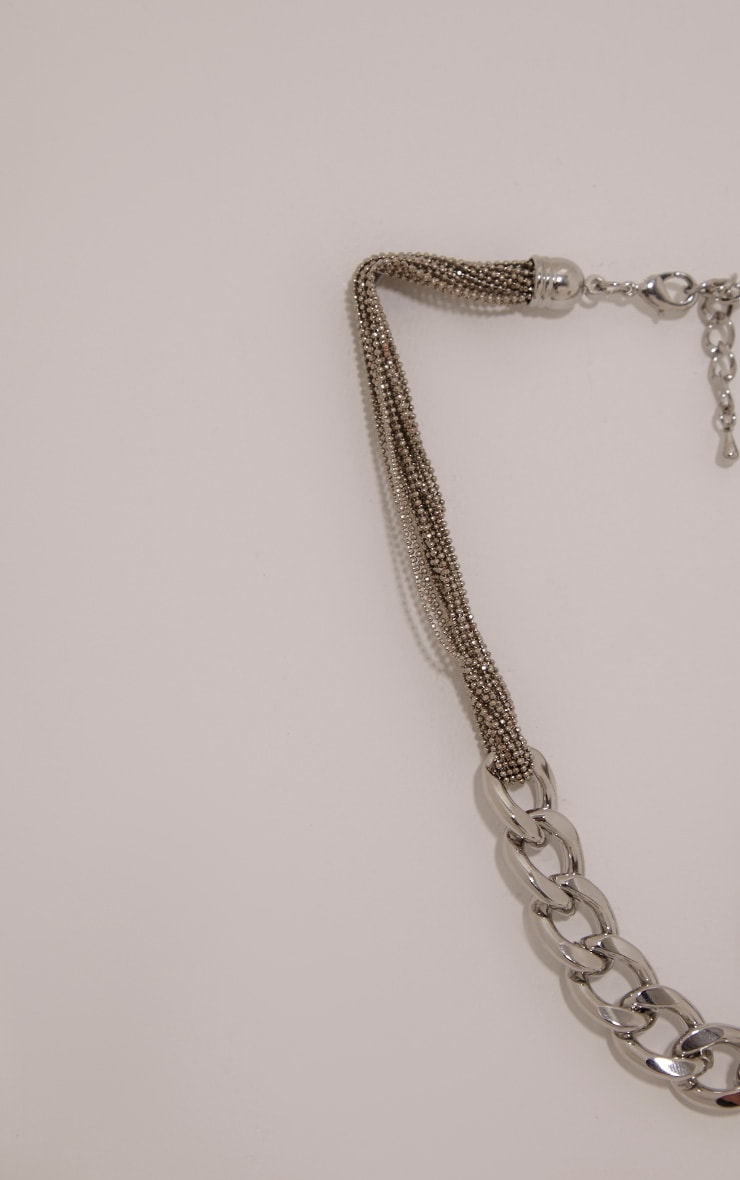 Lexi Silver Chain Link Necklace 5