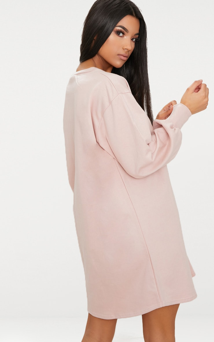 Robe sweat oversize nude 2