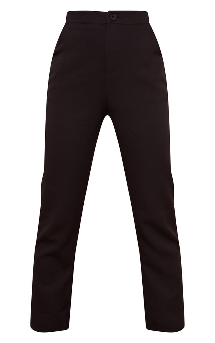 Pantalon cigarette en maille tissée noir détail poches 5