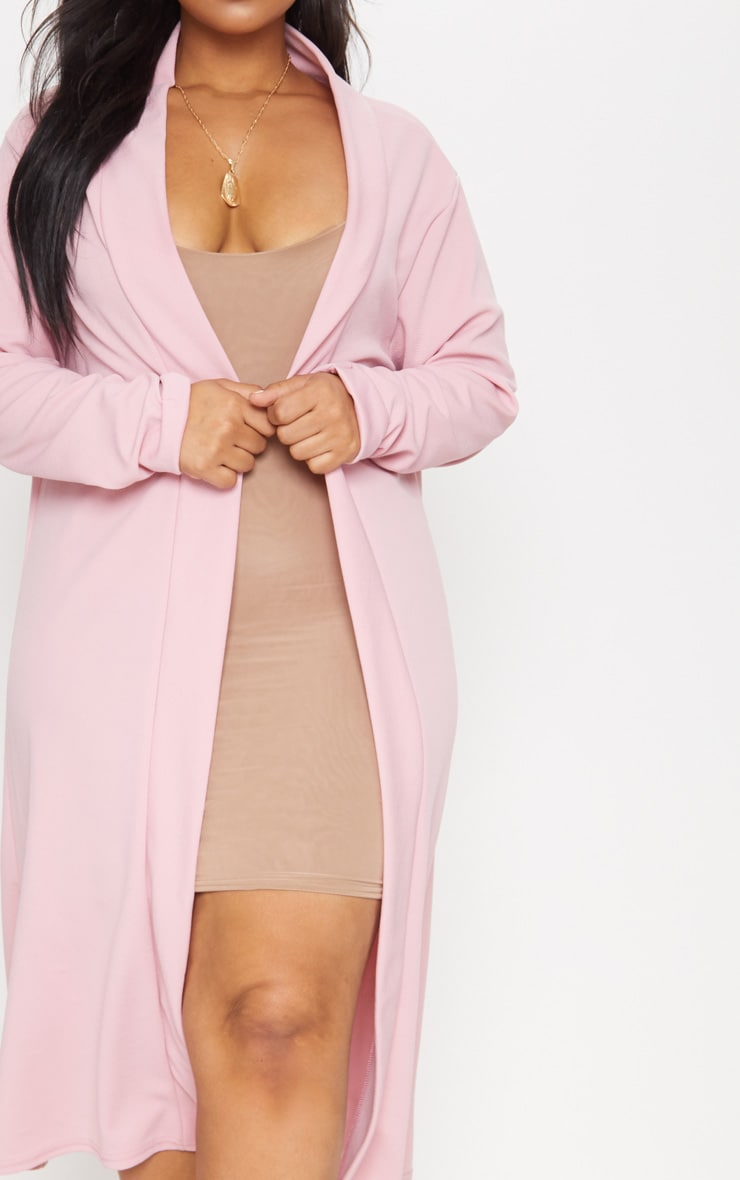 Plus Dusty Pink Crepe Maxi Duster Jacket 5