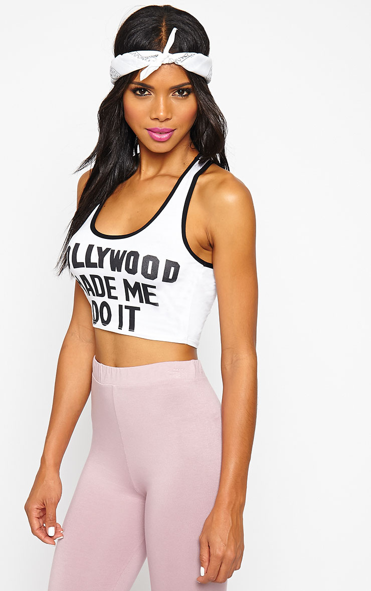 Aubree White Hollywood Crop Top 6