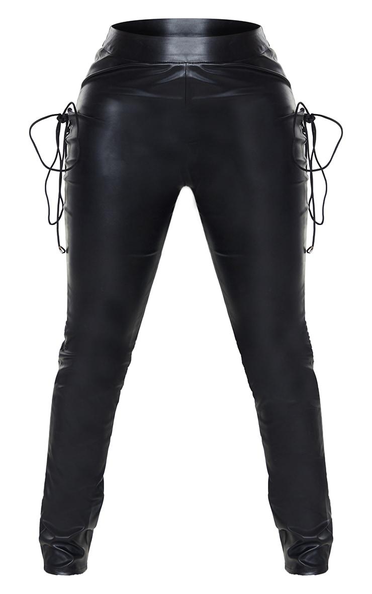 Shape Black Faux Leather Skinny Pants 5