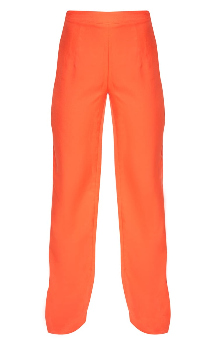 Petite Orange Wide Leg Suit Trousers 3