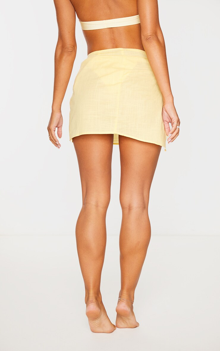 Lemon Mini Cotton Tie Sarong 3
