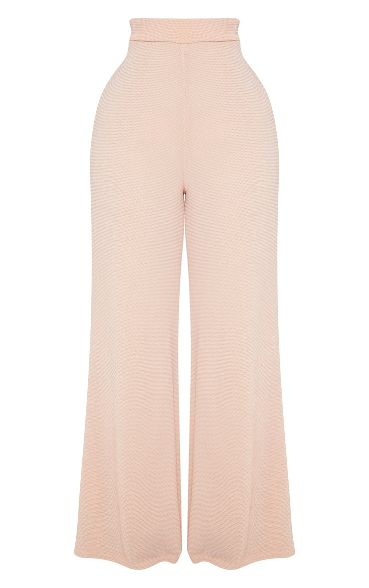 Shape Nude Glitter Wide Leg Trousers 3