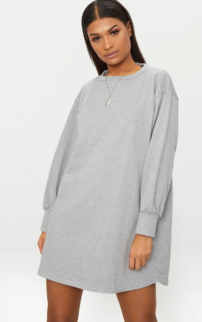 98cb0d9afa9 Grey Oversized Sweater Dress