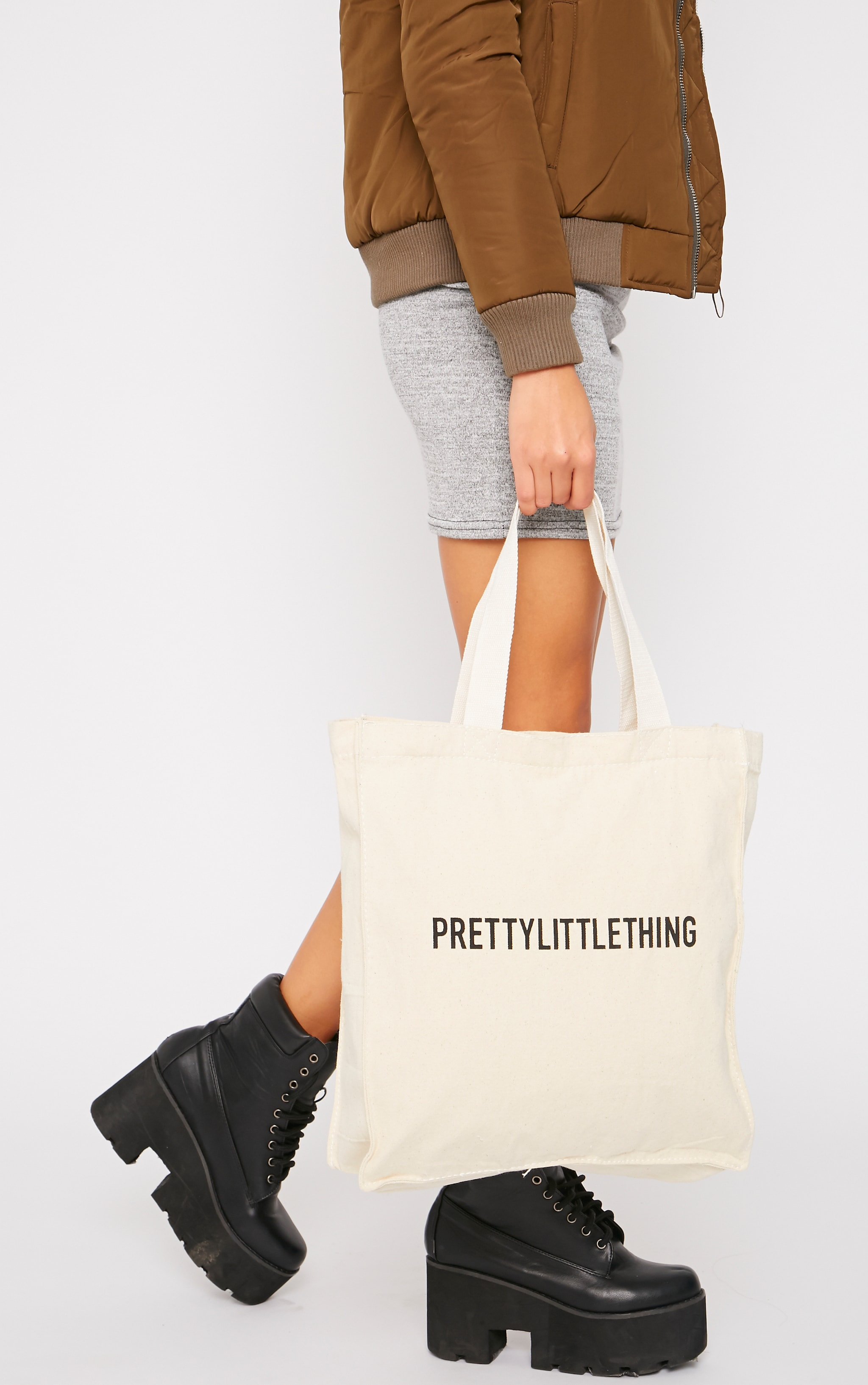 PrettyLittleThing Canvas Tote Bag  2