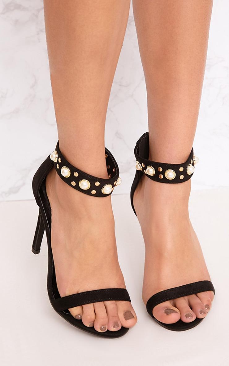 Black Pearl Cuff Heels 1