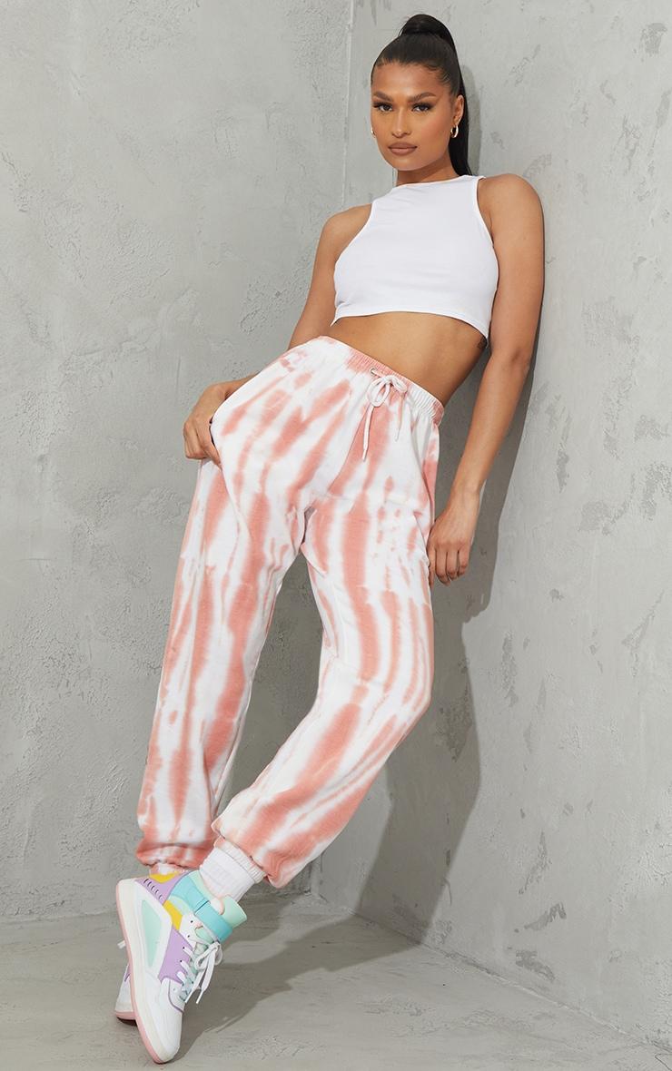 Peach Tie Dye Sweat Pant Joggers 1