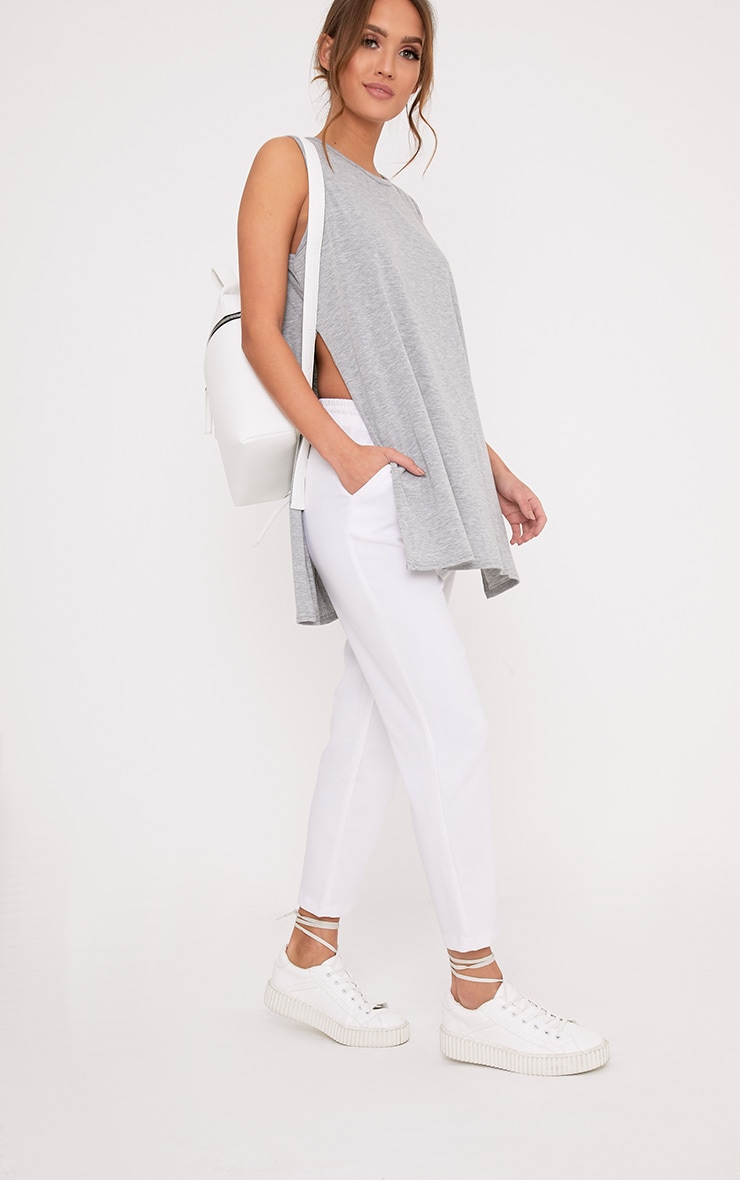Basic Grey Side Split Vest 4