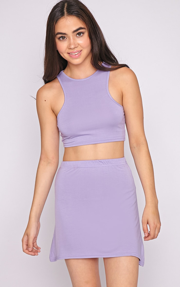 Madelyn Lilac Crop Top 1
