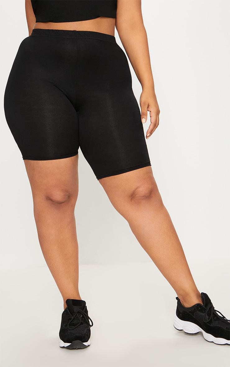 Plus Black Basic Cycle Shorts 2