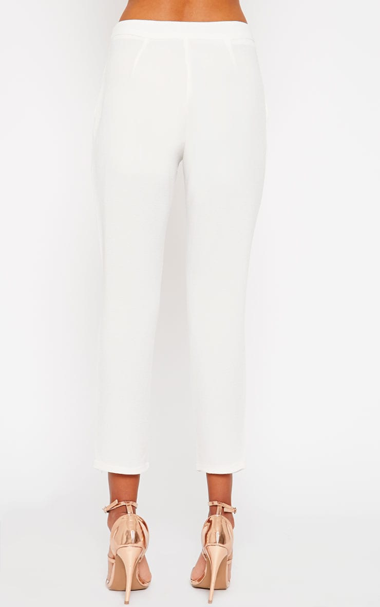 Iris Cream Cigarette Trousers 4