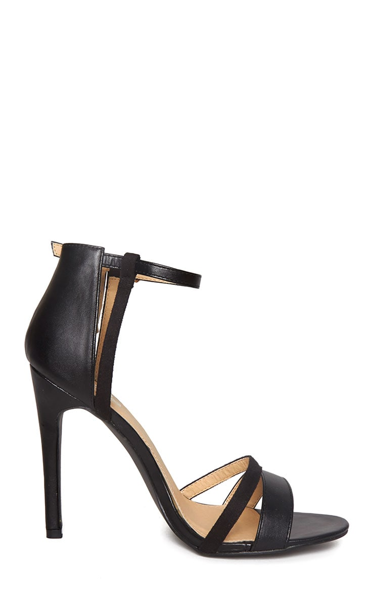 Cassia Black Strap Heeled Sandals 4