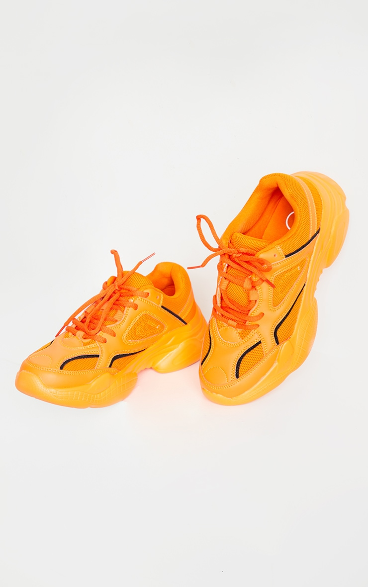 Orange Reflective Panel Arch Sole Chunky Trainers 3