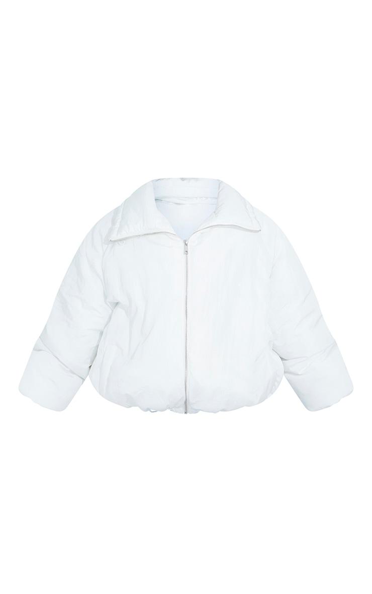 Petite White Extreme Oversized Puffer Jacket 5