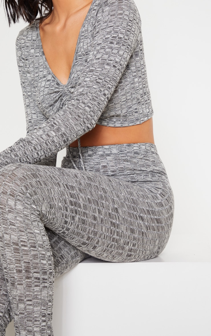 Grey Rib Lounge Leggings 5