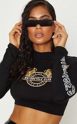 Black Rectangular Sunglasses 1
