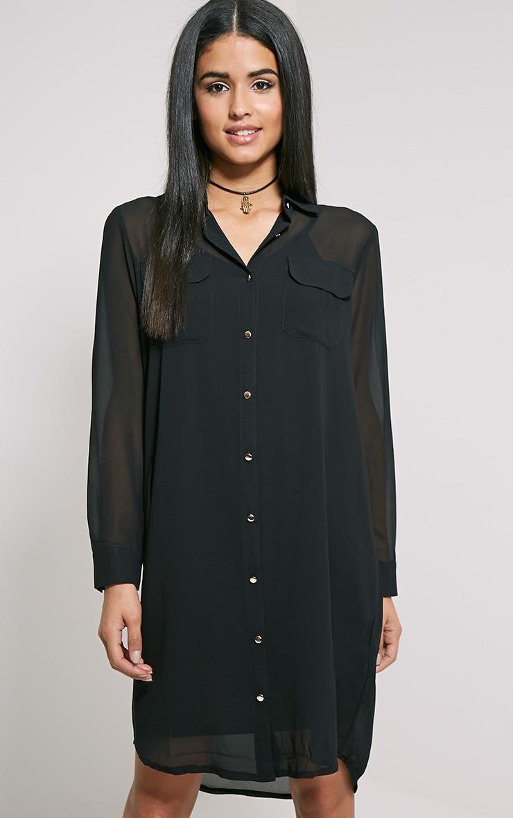 Loren Black Sheer Shirt 1