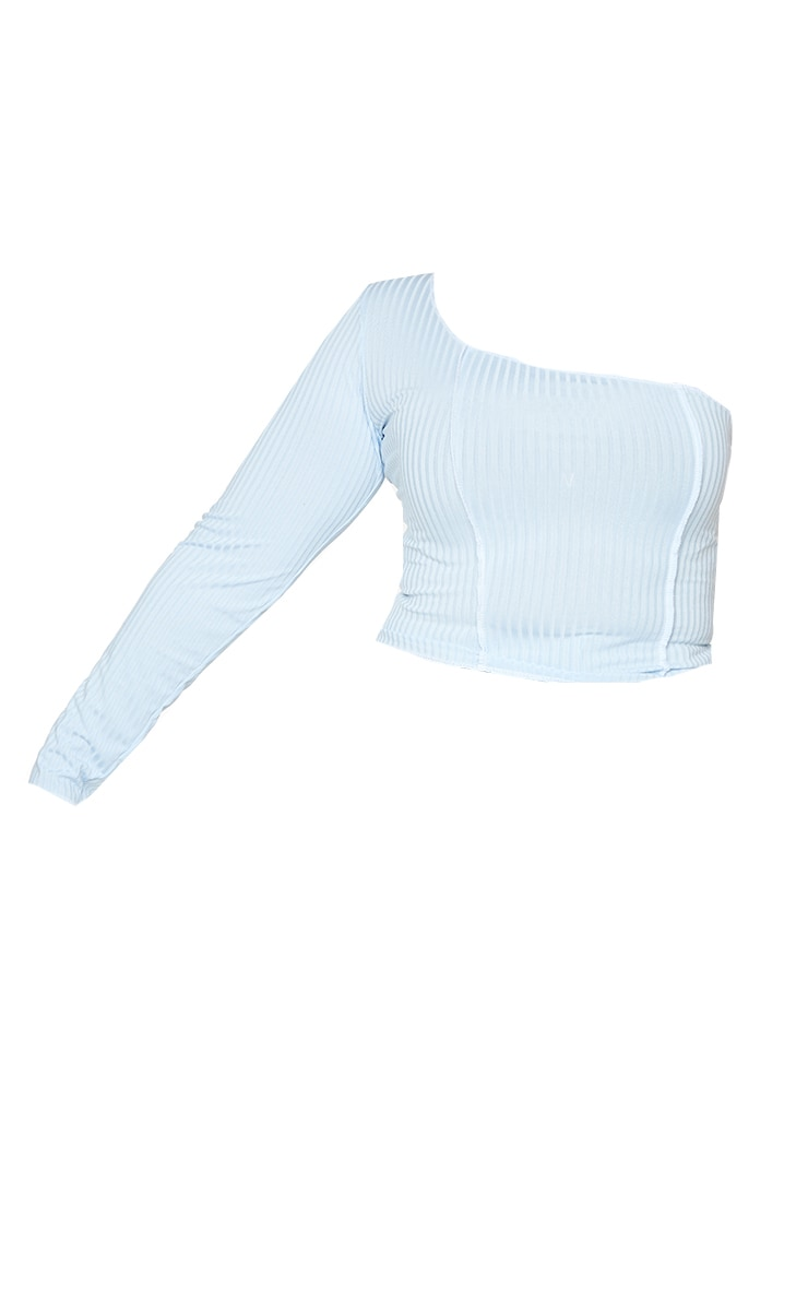 Plus Dusty Blue One Sleeve Top 5