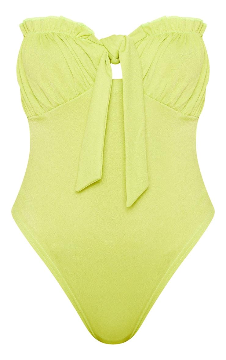 Lime Bandeau Milkmaid Bodysuit 3