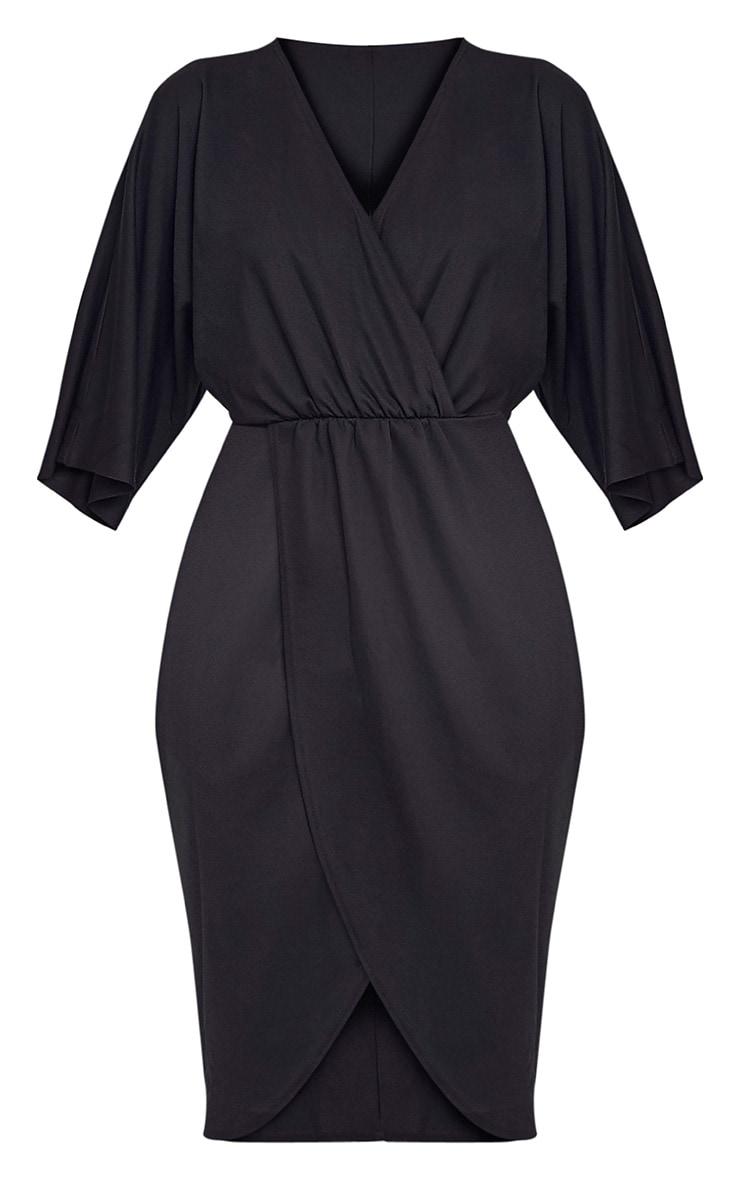 Archer robe midi cape noire 3