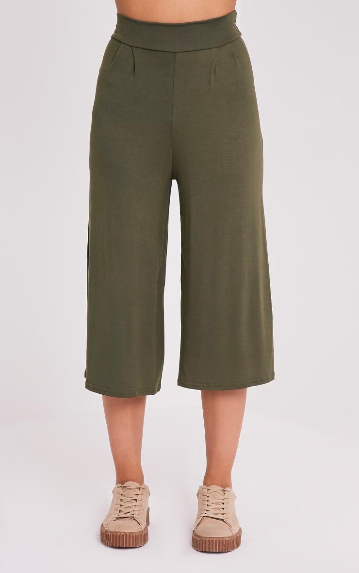 Basic jupe-culotte kaki 2