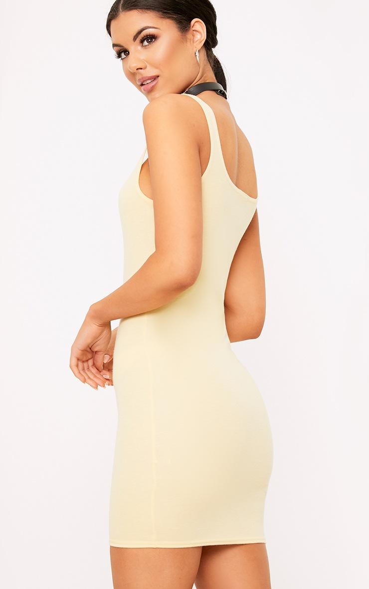 Carolin Lemon Scoop Neck Bodycon Dress 2