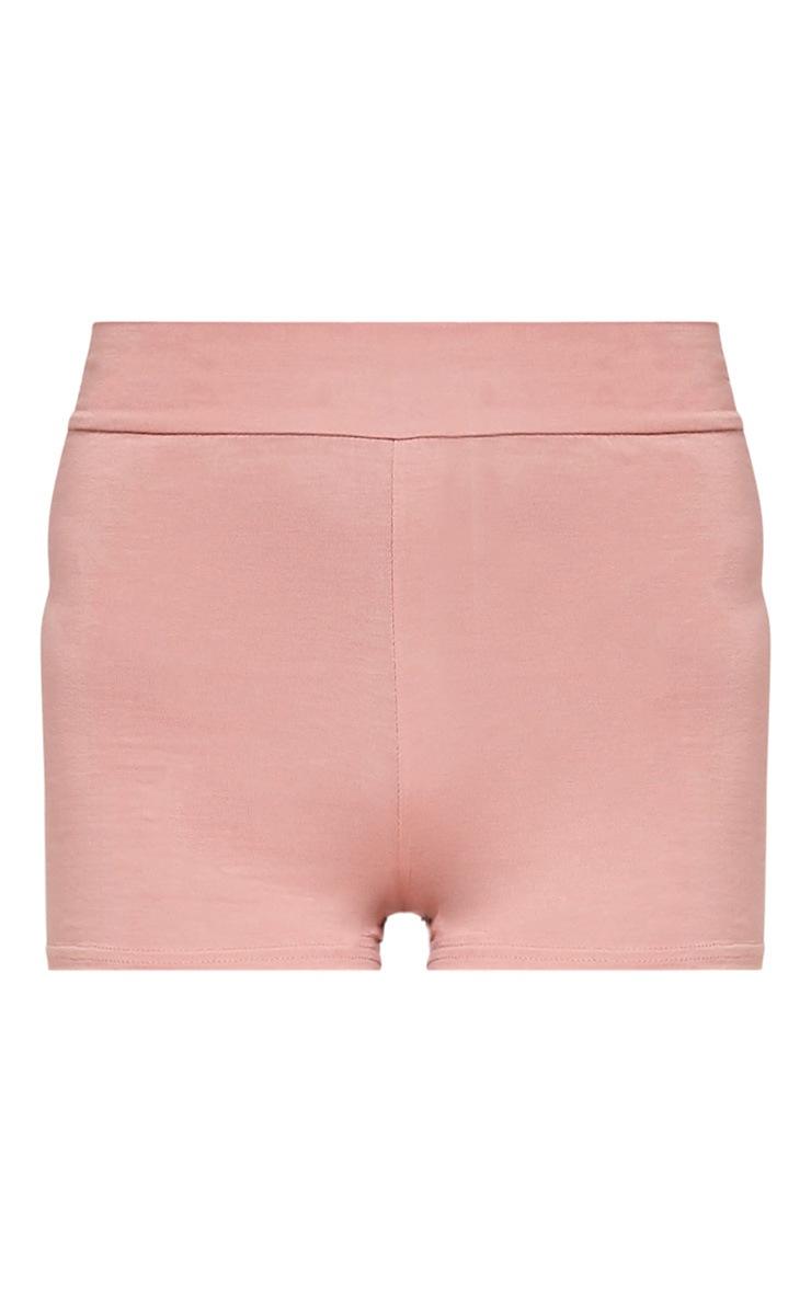 Basic Nude High Waisted Shorts 3