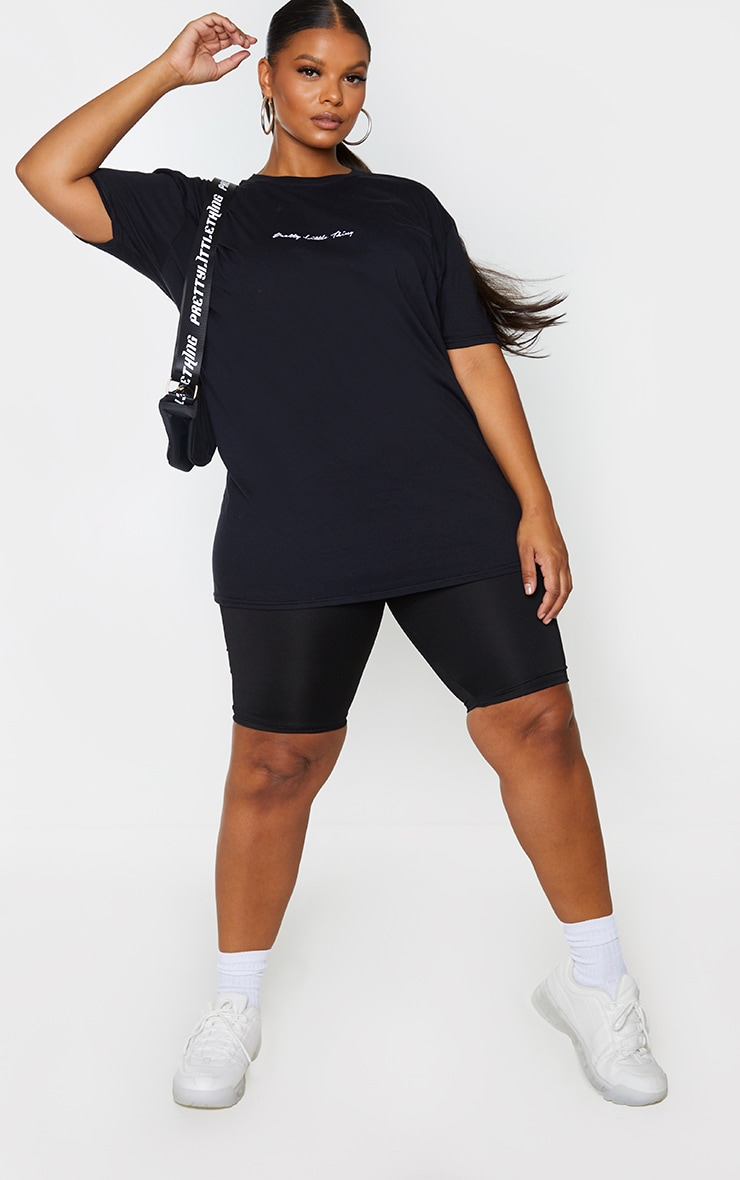 PRETTYLITTLETHING Plus 2 Pack Black & White Oversized T -Shirts 3