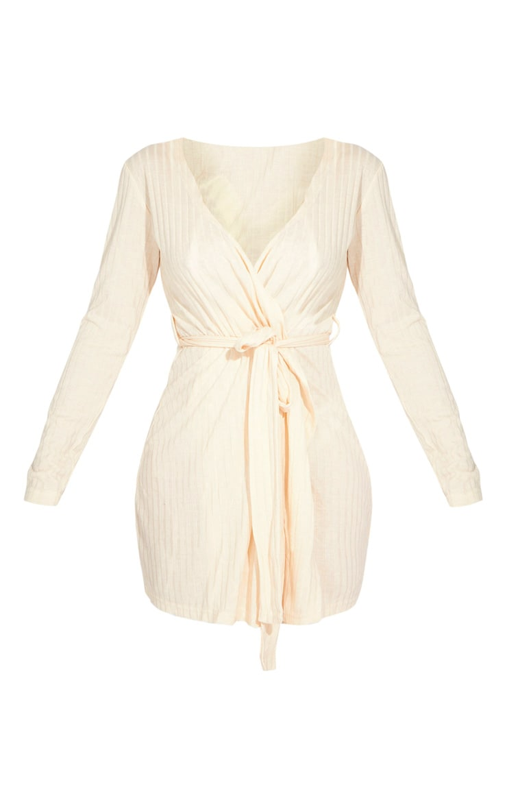 Cream Lounge Long Sleeve Dressing Gown 5