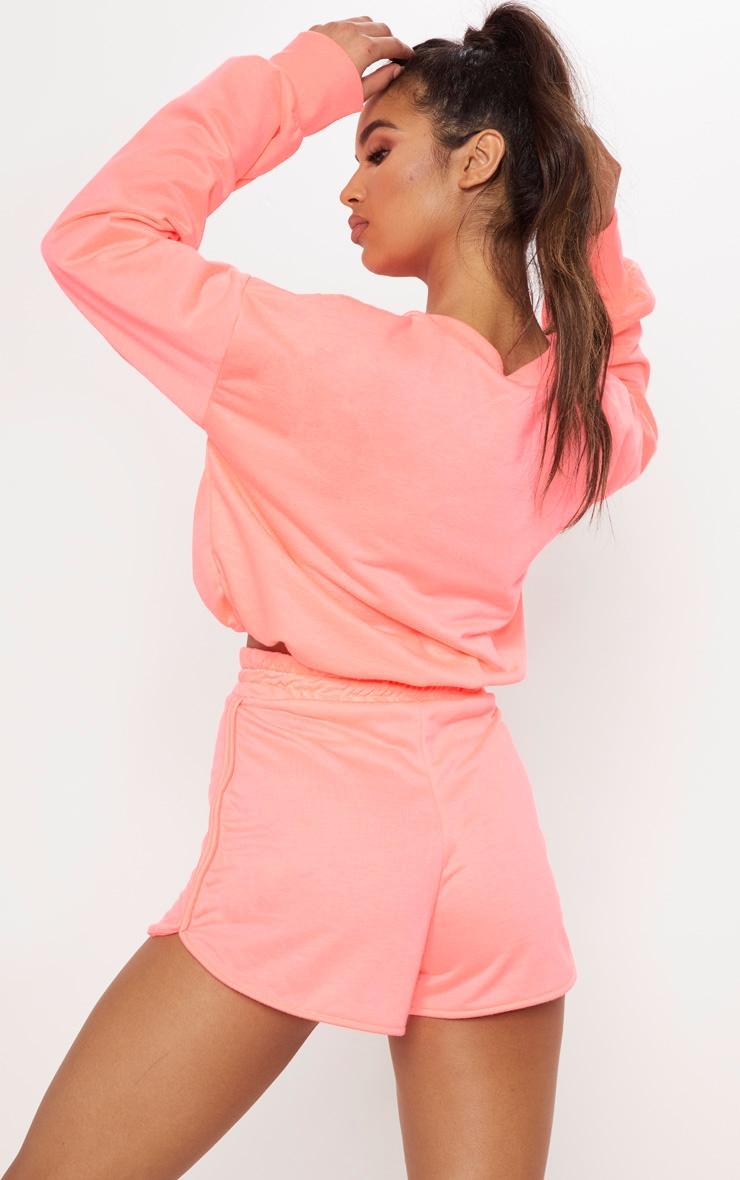 Pink Basic Gym Sweat Top 2
