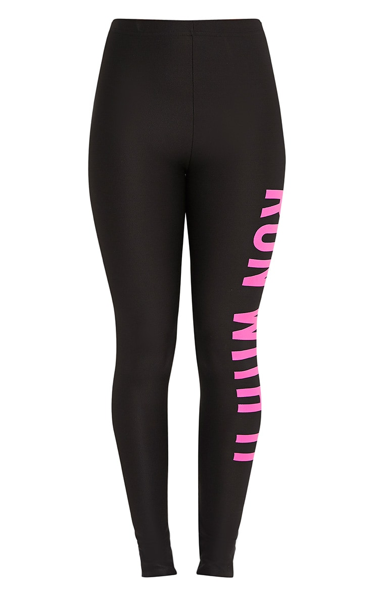Run With It Black Sports Leggings 3