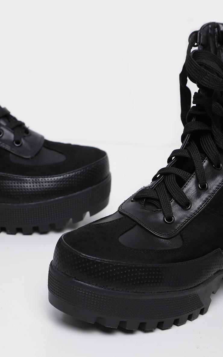 Karmel Black Biker Boots 3