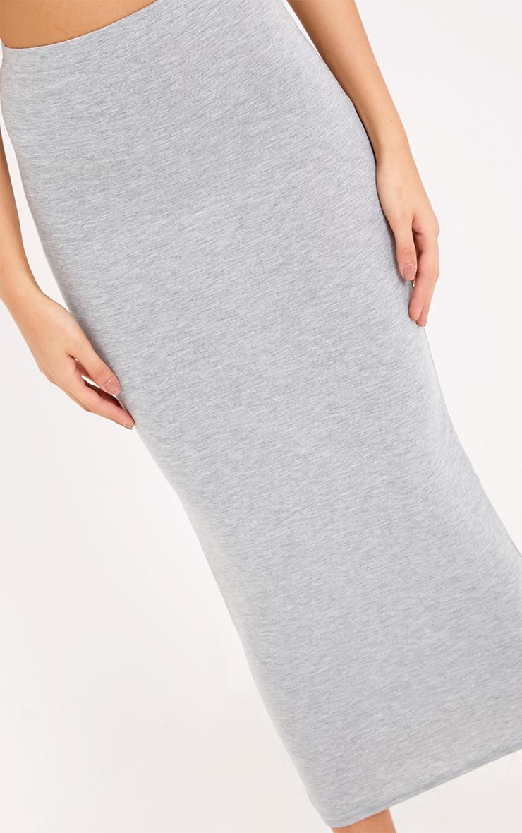 Basic Black & Grey Jersey Midaxi Skirt 2 Pack 5