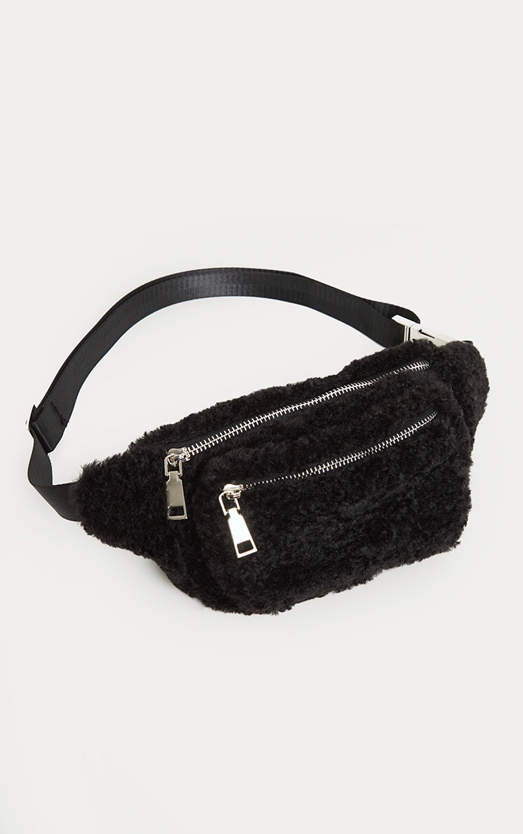 Black Fluffy Front Bag 2