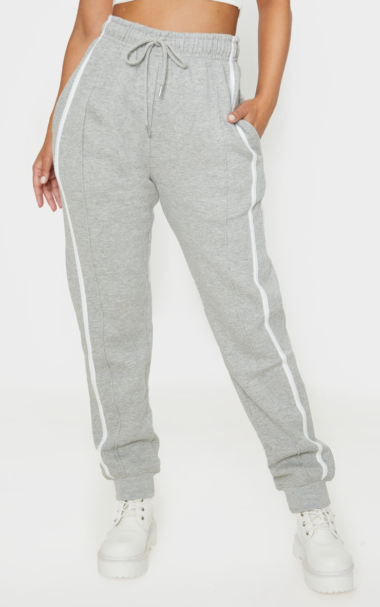 Petite Grey Double Side Stripe Jogger 2