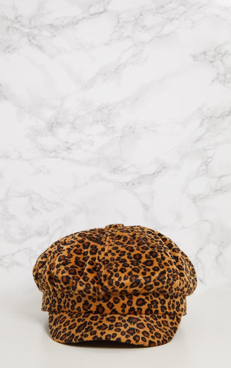 Leopard Print Baker Boy Hat 3